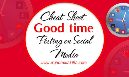 Cheat Sheet for good time to posting on Social Media